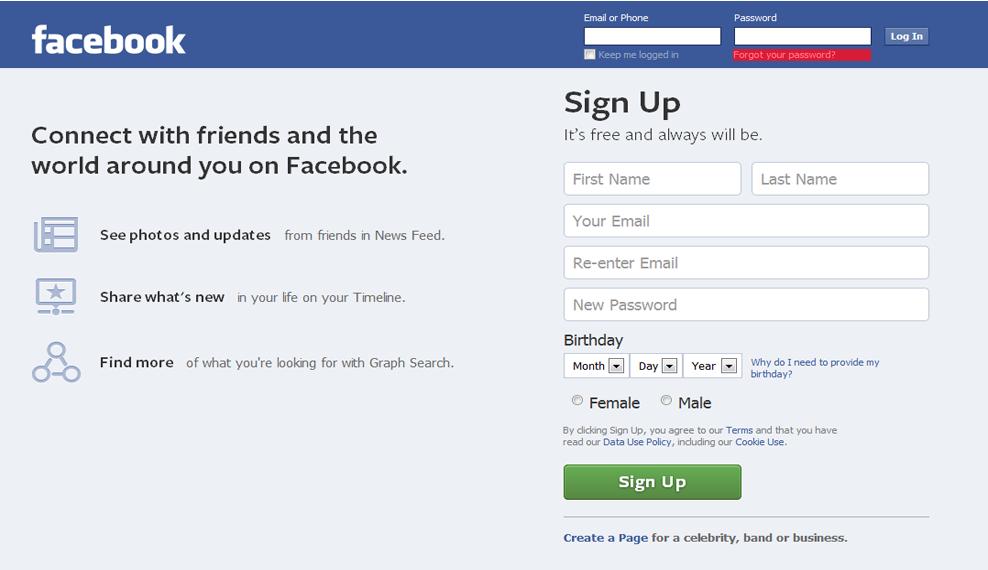 Login facebook if forgot password